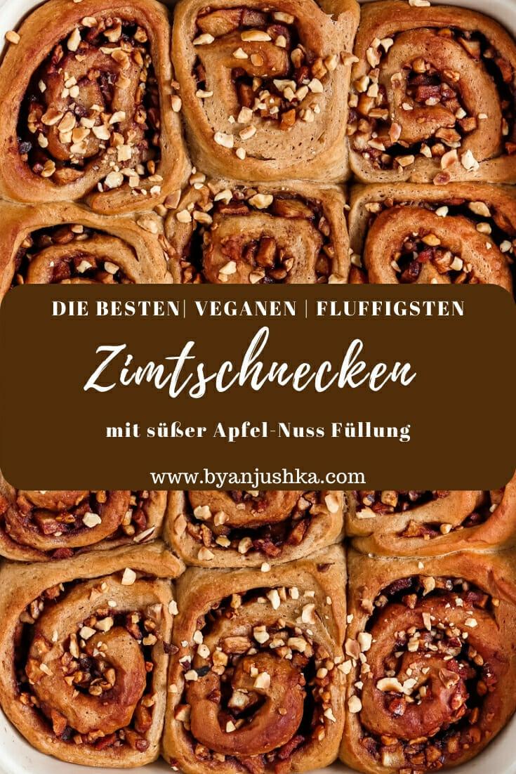 Vegane Zimtschnecken. Pinterest Bild.