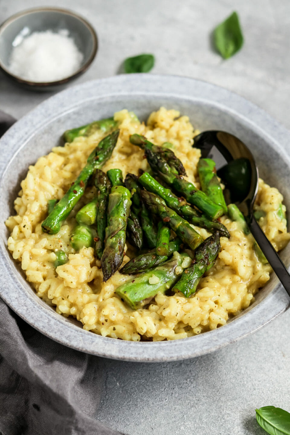 Veganes Spargel Risotto.