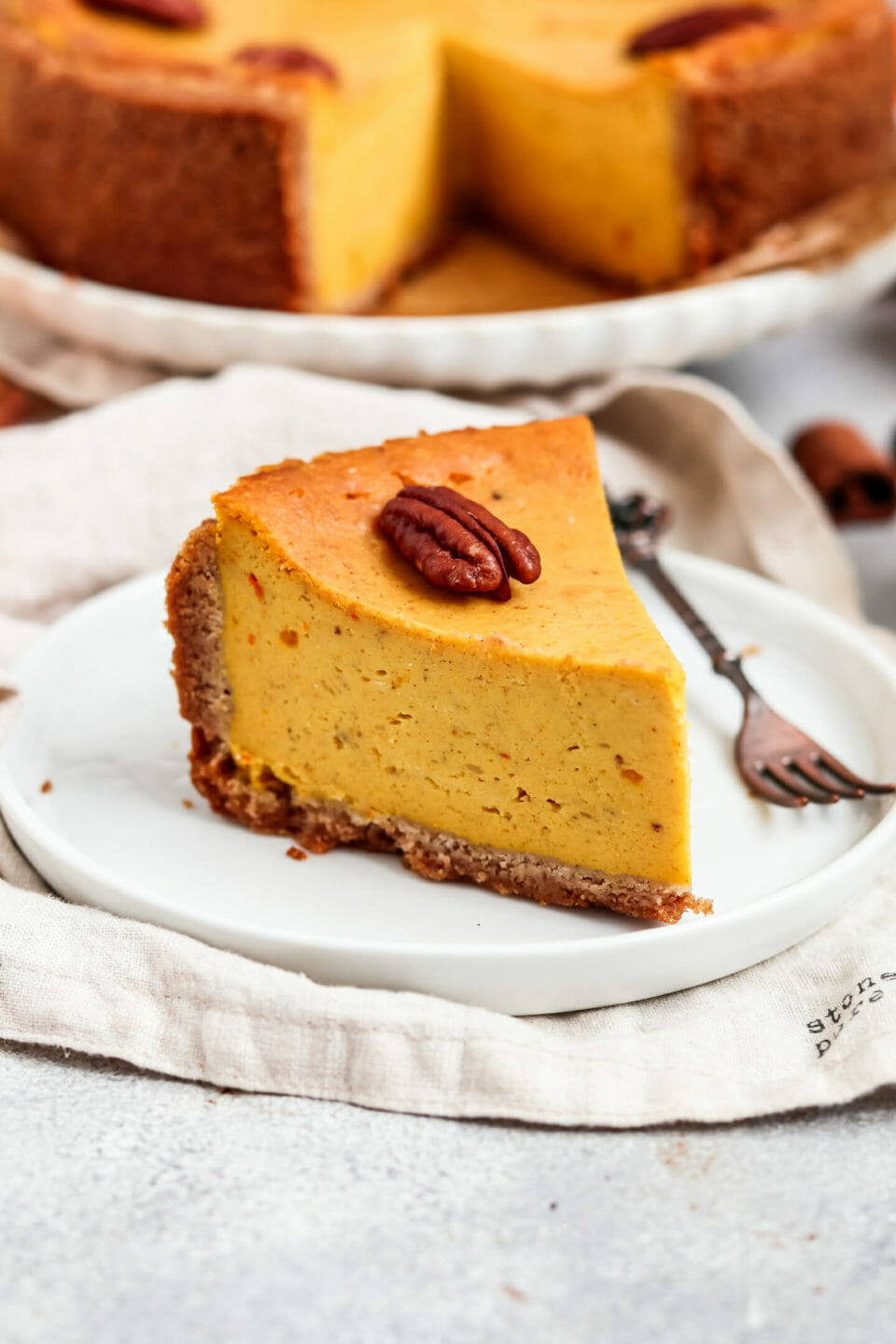 Pumpkin Cheesecake with Date Caramel.