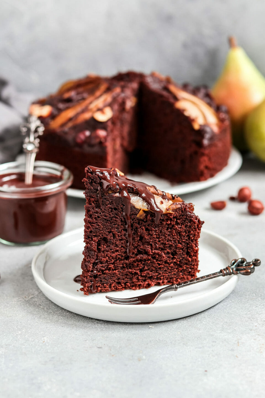 Schoko Birnen Kuchen.