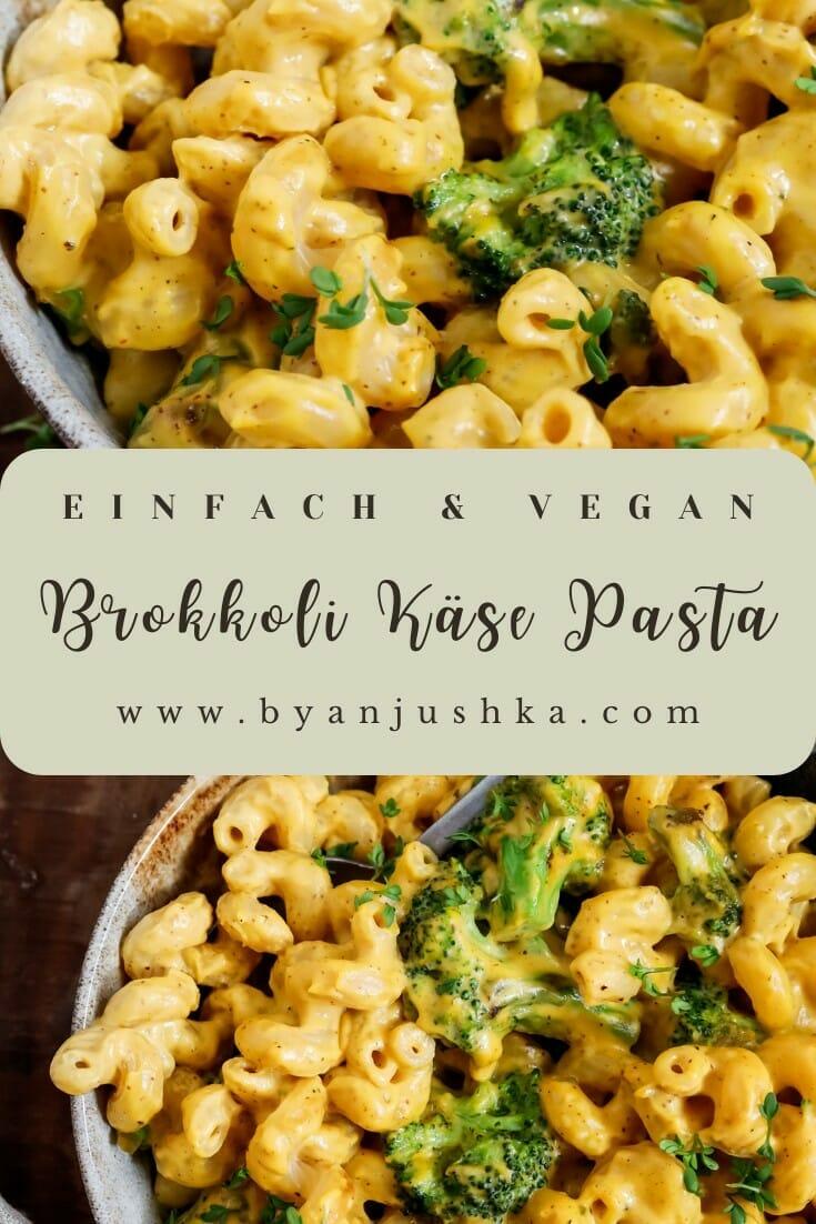 """Collage für das Rezept """"Brokkoli Käse Pasta"""" zum pinnen auf Pinterest"""